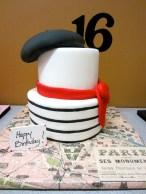 Sweet 16 Parisian cake