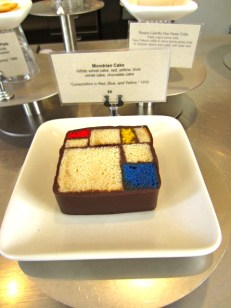 Mondrian cake at SF Moma