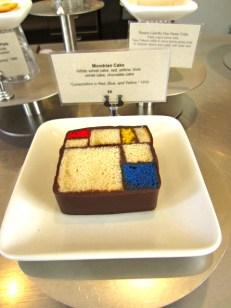 Mondrian cake at SF Moma