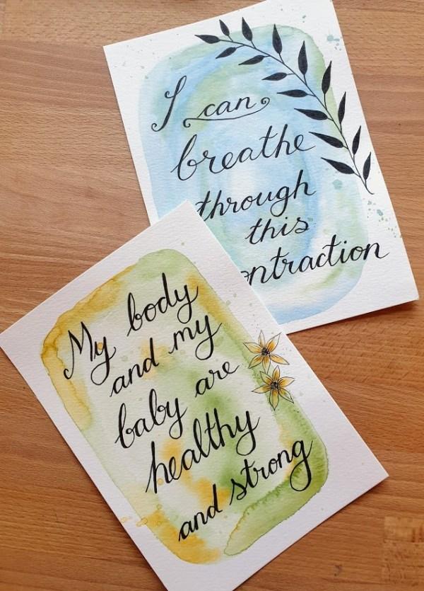 Birth affirmations set 1