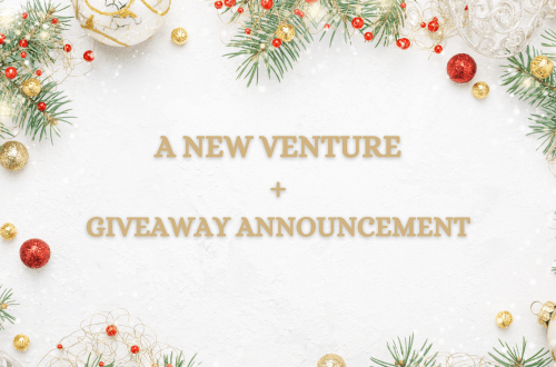a new venture and giveaway announcement