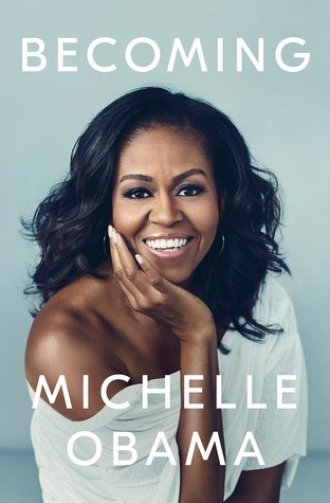 top 5 books - Becoming cover, an image of Michelle Obama