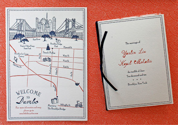 Wedding Map Inclusion Detail By Platypus Papers