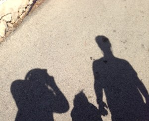 Image: Silhouette photo of my family