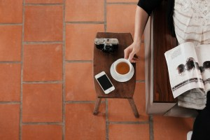 Image: coffee and magazine break. Beat procrastination with your three daily MITs (Most Important Tasks) blog by Lucy Stanyer Life Coach