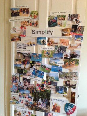 [Image: pictures on a door} Create your family inspiration board in 2017 by Lucy Stanyer Life Coach lucystanyerlifecoach.com