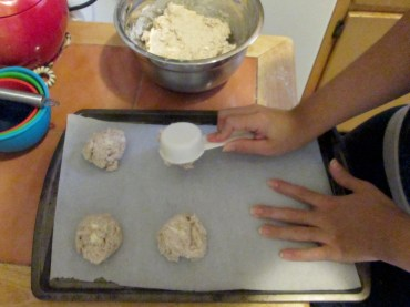 Drop biscuits: scoop out by the 1/4 cup full