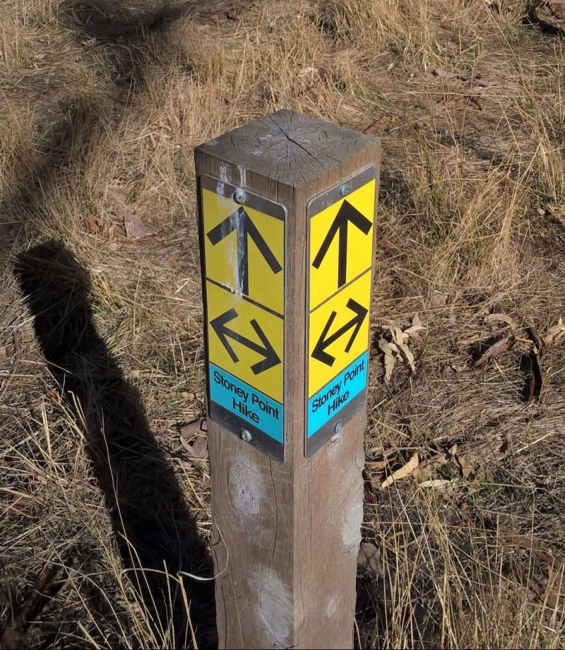 un segnale confuso con frecce che si contraddicono
