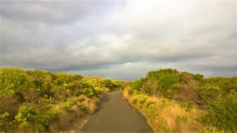 Great Ocean Road: un punto di strada strettissima