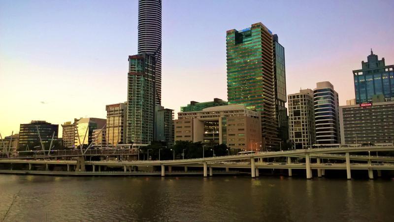 brisbane fiume e grattacieli