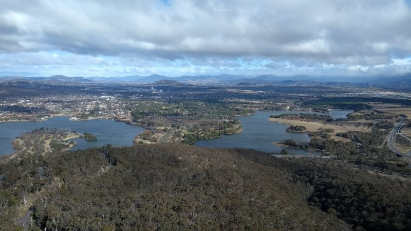 Panorama di Canberra dall'alto, vista dalla Telstra Tower