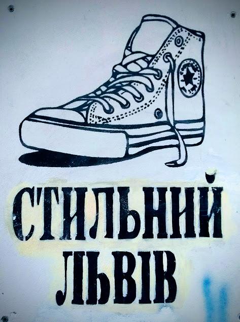 graffiti in ucraino, scritta ucraina