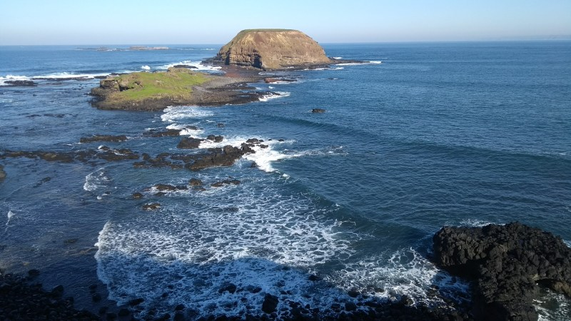 the nobbies phillip island scogliera