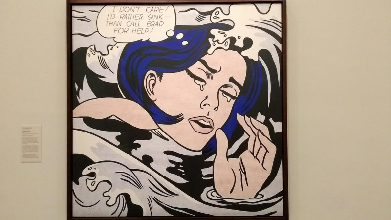 drowning girl lichtenstein quadro originale