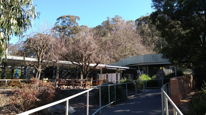Hanging Rock ingresso al bar e al visitor centre