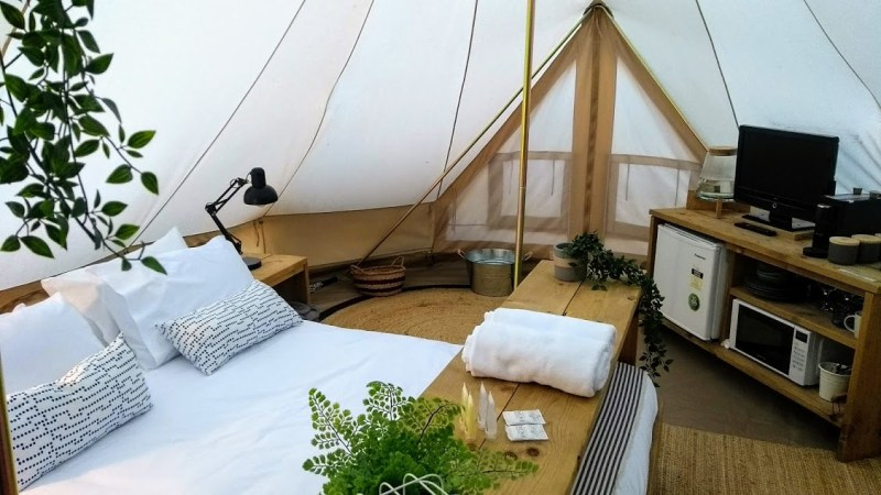 glamping interno tenda