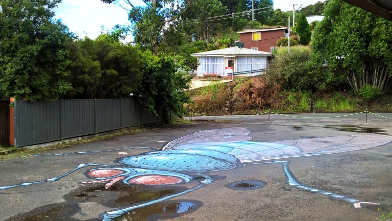 queenstown street art per terra