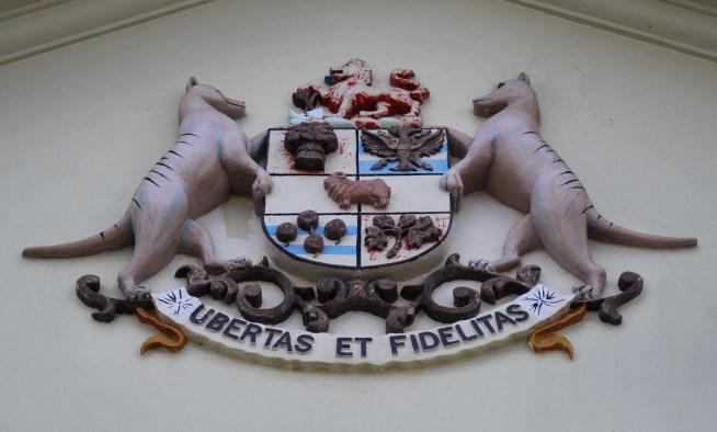 stemma tasmania con tilacini