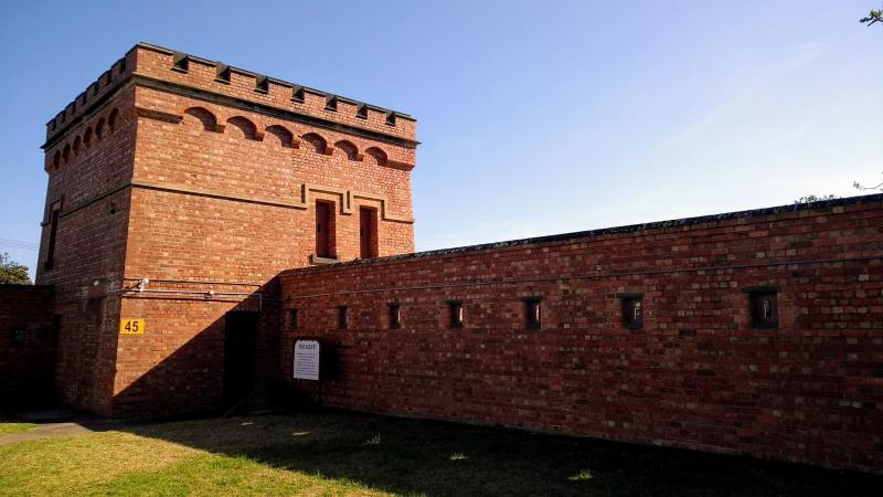 muro di Fort queenscliff con torretta
