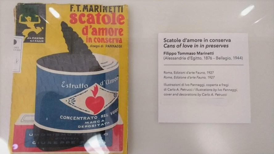 marinetti scatole d'amore in conserva