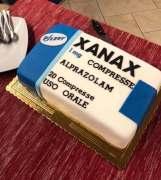 torta a forma di xanax