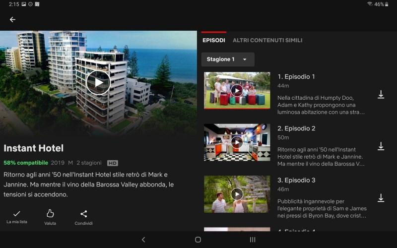 Serie tv Australiane da vedere su Netflix: Instant Hotel, episodi