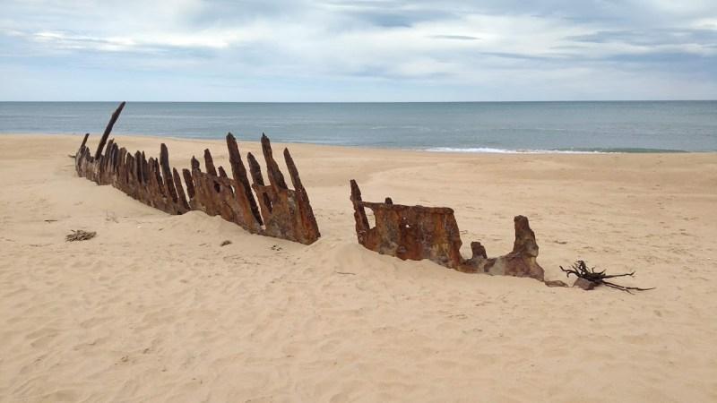relitto di una nave su una spiaggia australiana
