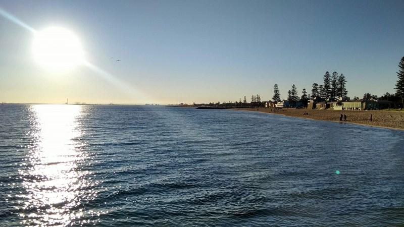 Sole e male d'inverno a Melbourne