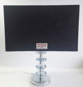 40cm x 20cm Rectangular Charcoal Harris Tweed