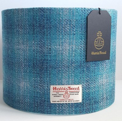 Turquoise Harris Tweed Lampshade