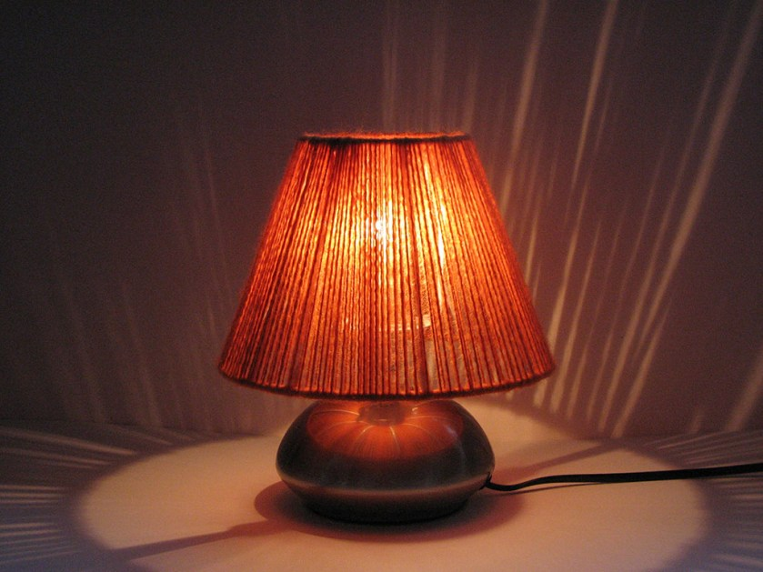 100% Highland Wool Hand Wrapped Lampshade