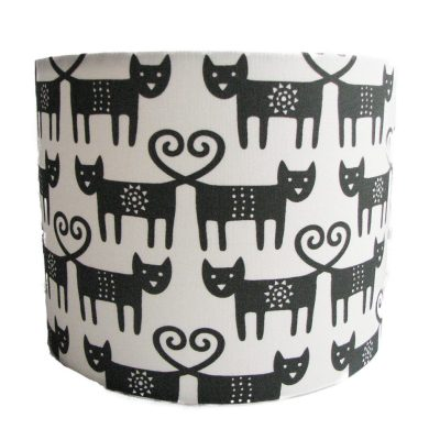 Black and White Scandi Lampshade