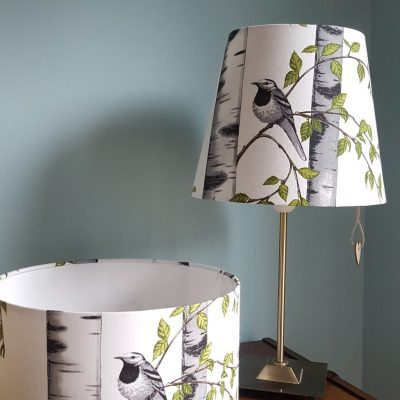 Drum and straight empire lampshade