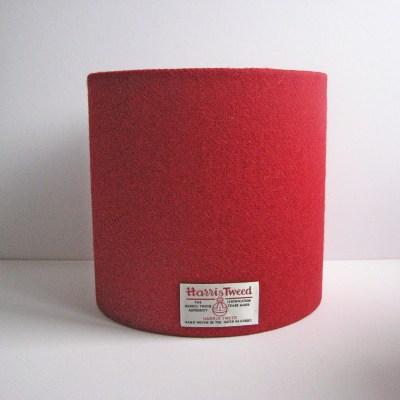 Red 20cm Harris Tweed Lampshade