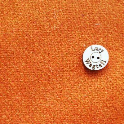 Mid Orange Harris Tweed
