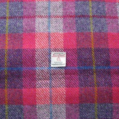Pink Purple Check Harris Tweed