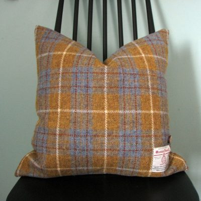 Harris Tweed Cushion showing scale