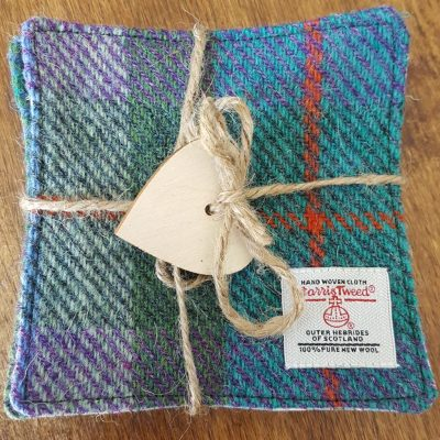 Tied Harris Tweed Coaster Set