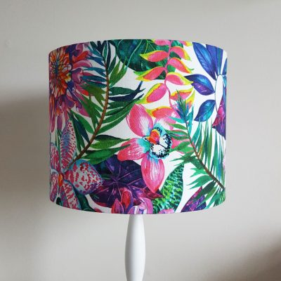 25cm Pink Orchid Lampshade 1