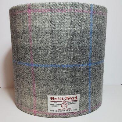 Grey Check Pink Blue HT Lampshade