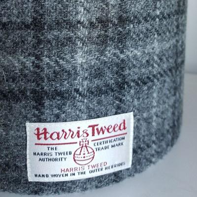 Grey Checked Harris Tweed Lampshade