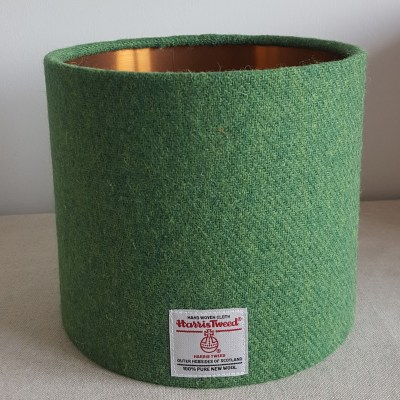 mid green copper lined lampshade