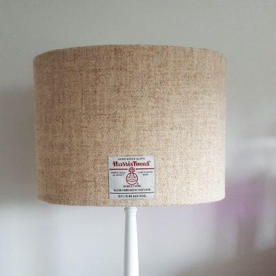 Oatmeal Oval 30cm on lamp