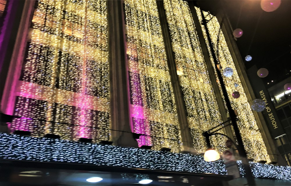 Christmas at House of Fraser Oxford Street London