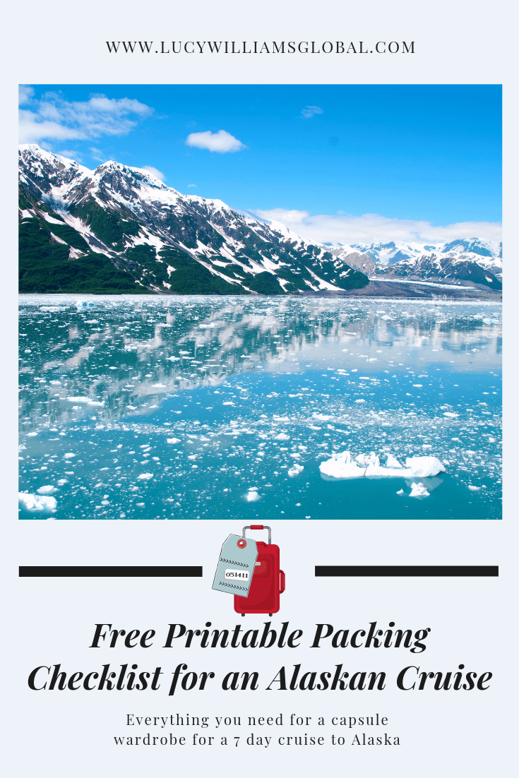 picture regarding Printable Packing List for Alaska Cruise called How in the direction of pack a capsule wardrobe for a 7 working day cruise towards Alaska