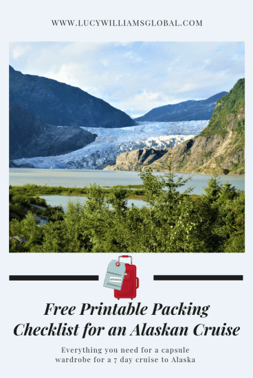 Free Printable Packing Checklist for an Alaskan Cruise - Lucy Williams Global