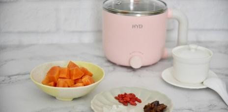 【食譜】養胃助眠的養生甜品桂圓冰糖燉木瓜