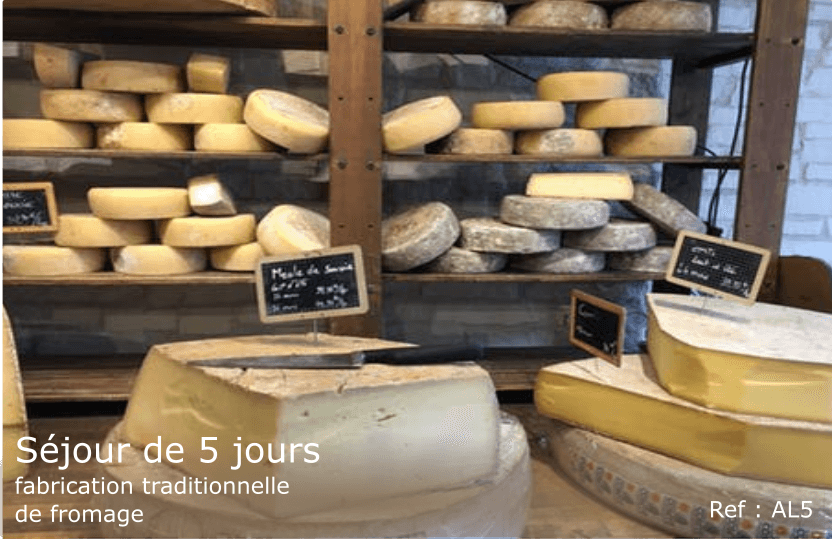 Séjour Alpes - fabrication de fromage