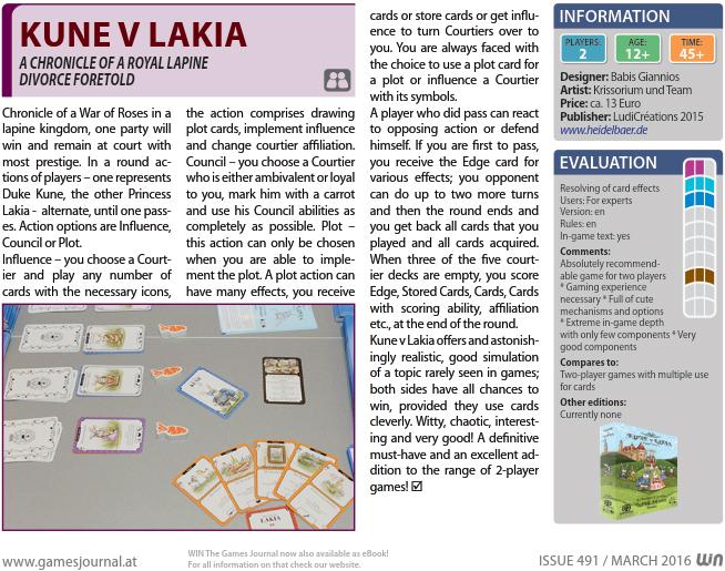 WIN Magazine Review of Kune v Lakia