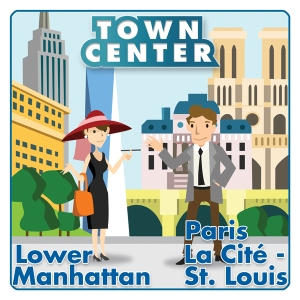 Town Center: Lower Manhattan / Paris La Cite-St.Louis logo